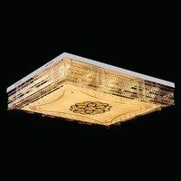 Европейский хрусталь потолочный светильник модные роскошные светодиодный гостиная потолочный светильник просто кристалл лампы прямоугол