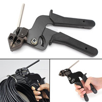 Heavy Duty Fastening Cable Tie Tensioning Tool High Carbon Steel Fasten Pliers Crimper Tensioner Cutter