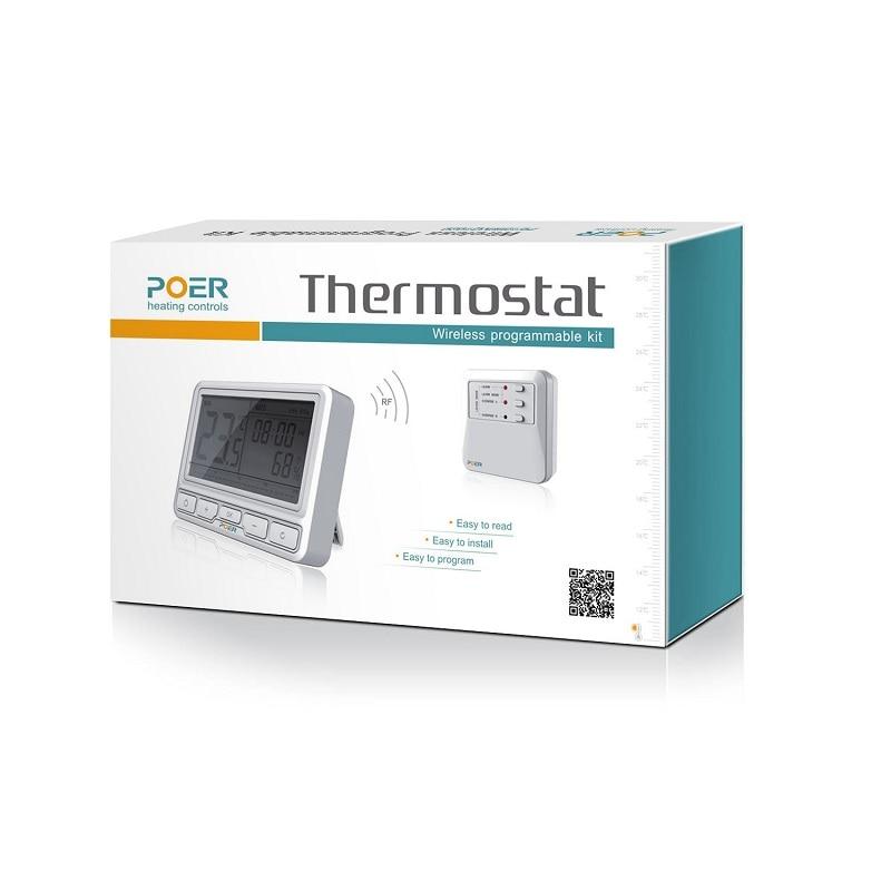 Termostatas grindų šildymui Belaidis katilo temperatūros - Matavimo prietaisai - Nuotrauka 4