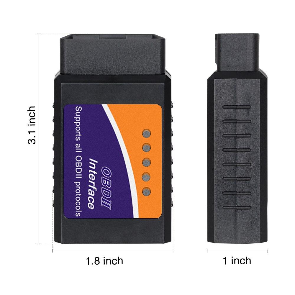 HTB1i8jMacnrK1RjSspkq6yuvXXaf ELM327 Wifi Bluetooth V1.5 PIC18F25K80 Chip OBD2 Code Reader ELM 327 V1.5 OBDII Diagnostic Tool for Android/IOS/PC auto scanner