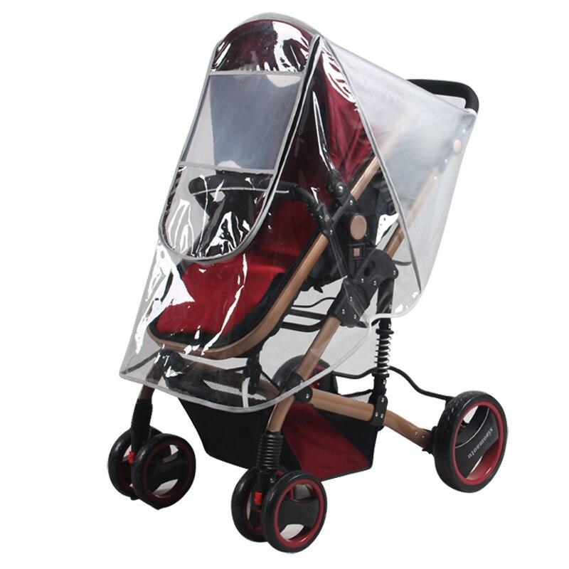 Waterdichte regenhoes voor kinderwagen accessoires Transparante Winddicht regenjas voor baby winkelwagen Rits opent Kinderwagens 1