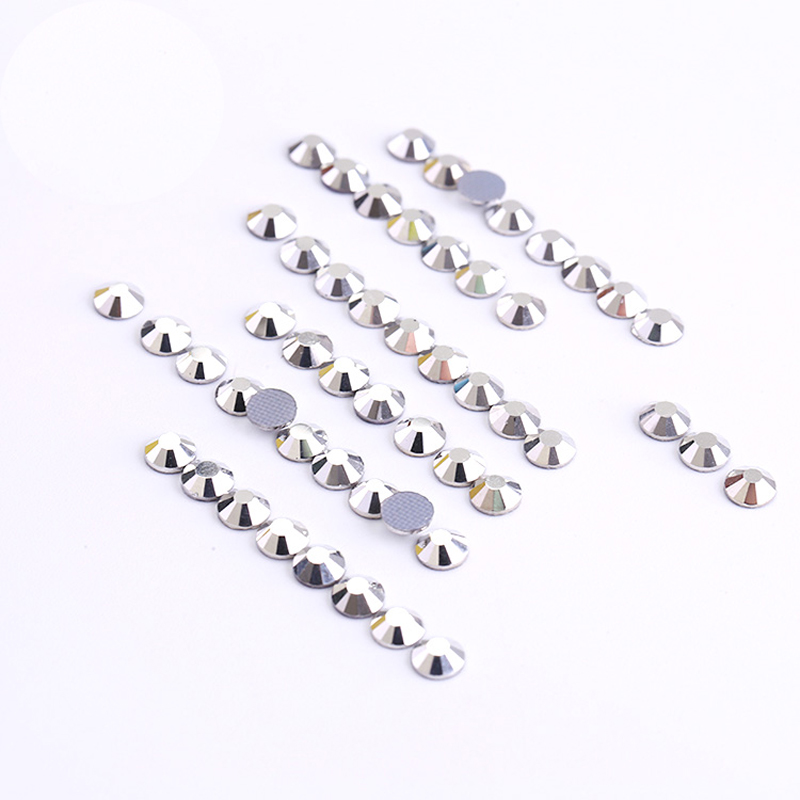 Crystal Hotfix Rhinestones for Clothes Best Shiny Strass Hotfix Clear White  Stones and Crystals Rhinestone DIY Silver Trim-in Rhinestones from Home    Garden ... 030039853517