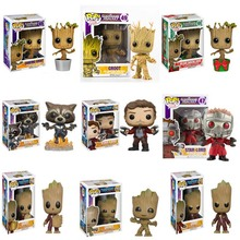 FUNKO POP Marvel Guardians of The Galaxy Anime Figure Groot Vinyl Action Figure Original Box Collectible Model Toy 2F25 rmdmyc toy guardians of the galaxy rocket racoon groot action figure 16cm groot 1 10 scale painted anime figure pvc model gifts