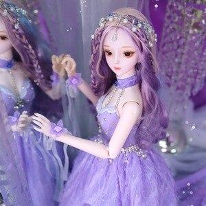 Image 5 - DBS Hada de los sueños 1/3 bjd 60cm, muñeca articulada, cuerpo SD, juguete que Incluye zapatos para vestido de pelo, tocado, regalo para niña