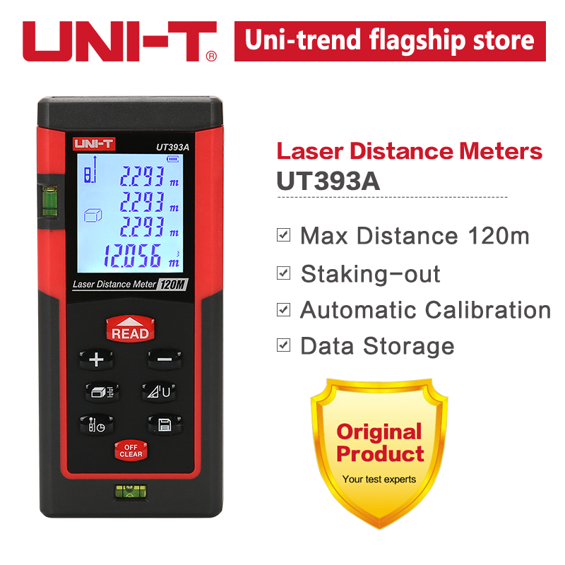 UNIT Laser Distance Meters 120 m Range UT393A Add/Sub Triangle Pythagore Continuous Measurement UNIT RangefinderUNIT Laser Distance Meters 120 m Range UT393A Add/Sub Triangle Pythagore Continuous Measurement UNIT Rangefinder