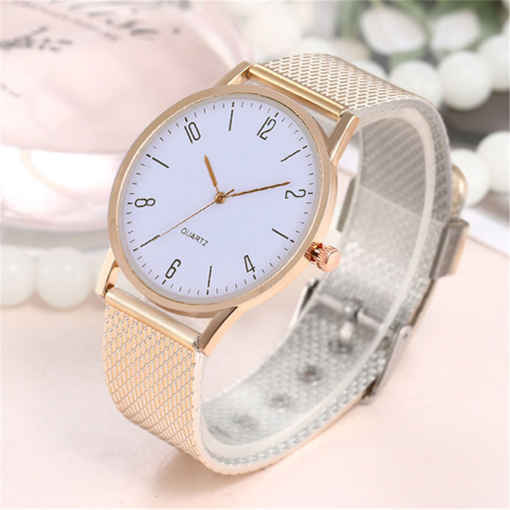 Women Stainless Steel Lady Bracelet Watch Elegant Dial Quartz Casual Wrist Watch Clock Gift Reloj Mujer Damen Uhr4JJ