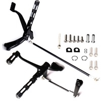 New Black Forward Controls Pegs Levers Linkages For Harley Sporster XL 883 1200 04 11 12 13 Models