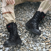 Winter Men Military Boots Quality Special Force Tactical Desert Combat Ankle Boats Army Work Shoes Keep Warm Snow Boots HH 090