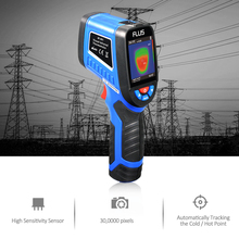 240x320 Screen IR Infrared Thermometer Thermal Imager Handheld Digital Electronic Outdoor Pyrometer Point Gun Thermometer цена