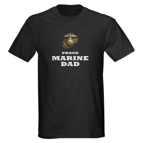 6f1fcf54d new MARINES Eagle Globe Anchor - Proud DAD Dark T-Shir - Dark T-Shirt 100%  cotton O-Neck T Shirt Casual short print tops tee