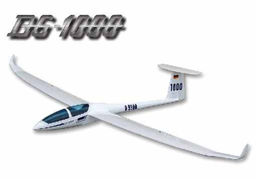 DG-1000 Unpowered Slope Glider RC Fiberglass & wood scale model sailplane  KIT without electric part