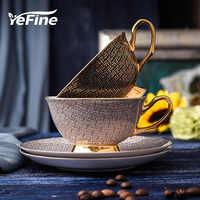 Tasses à café en porcelaine de haute qualité YeFine tasses et soucoupes en céramique Vintage