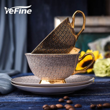 YeFine High Quality Porcelain Coffee Cups Vintage Ceramic Cups And Saucers Set Chinese Tea Cup Drinkware For Coffee