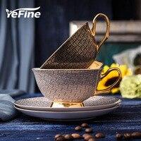 YeFine Hohe Qualität Porzellan Kaffee Tassen Vintage Keramik Tassen Und Untertassen Set Chinesische Tee Tasse Drink Für Kaffee-in Kaffeetasse & Untertasse Sets aus Heim und Garten bei