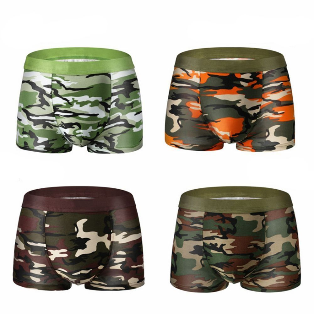 1 Pcs Hot 2019 New Men Military Camouflage Underwear Sexy Modal Cotton Highly Elastic Men's Camouflage Printed Boxer Shorts