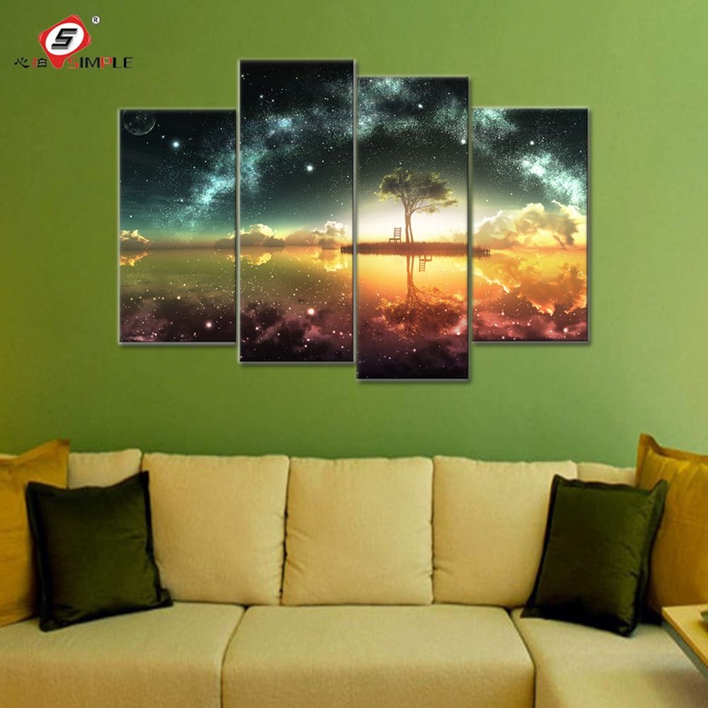 Space Ocean Canvas Wall Art Paintings Modular Pictures