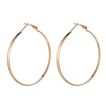 49c816daad105 Dreamtop European Hollow Big Hoop Earrings For Women Party Gift Gold Silver  Color Circle Round Earing