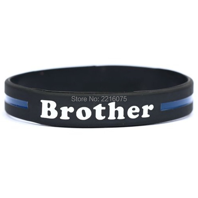 300pcs Brother Thin Blue Line Silicone Wristband Rubber Bracelets Free Shipping By Dhl Express