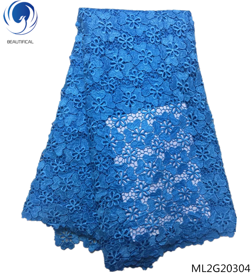 BEAUTIFICAL african blue cord lace fabrics african guipure lace fabric cord lace water soluble 5 yards/lot free shipping ML2G203BEAUTIFICAL african blue cord lace fabrics african guipure lace fabric cord lace water soluble 5 yards/lot free shipping ML2G203