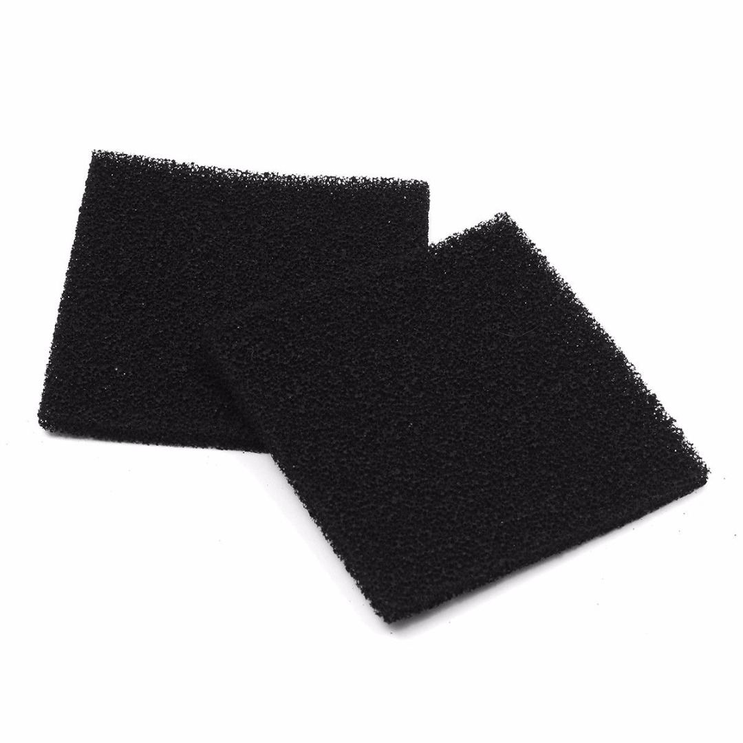 2pcs/lot Black Activated Carbon Filter Foam Sponge Air Impregnated Sheet Pad 13*13cm For Solder Fume Extractor Mayitr 2 pcs lot air filter for stihl 4224 140 1801a 4224 140 1801a ts700 ts800 new