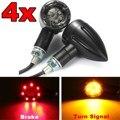 4 pcs Universal Motos Flasher Ligue Luz de Sinalização Indicadores LED luz de Freio Traseiro Lâmpada Running