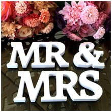 Taoup PVC Mr & Mrs Letters Rustic Wedding Event Party Supplies Vintage Wedding Accessories Alphabet Engagement Propose Props(China)
