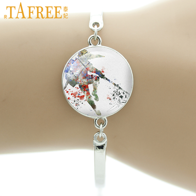 US $1 24 38% OFF|TAFREE Game Charact Bracelets The Zelda Stock Vector  bracelet round dome glass cabochon interesting jewelry A340-in Charm  Bracelets