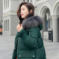 Winter Women Casual Loose Parkas Womens Pockets Solid Color Coat Female New Style Thickening Chic Jacket Females Hooded Overcoat