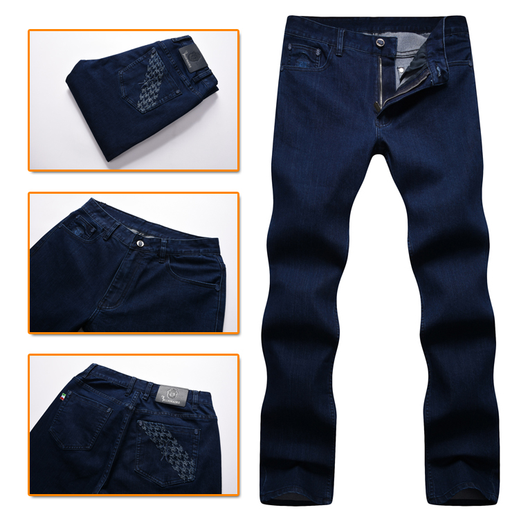 TACE&SHARK Billionaire jean men 2017 autumn new arrival fashion comfort high fabric geometry embroidery gentleman free-in Jeans from Men's Clothing    1
