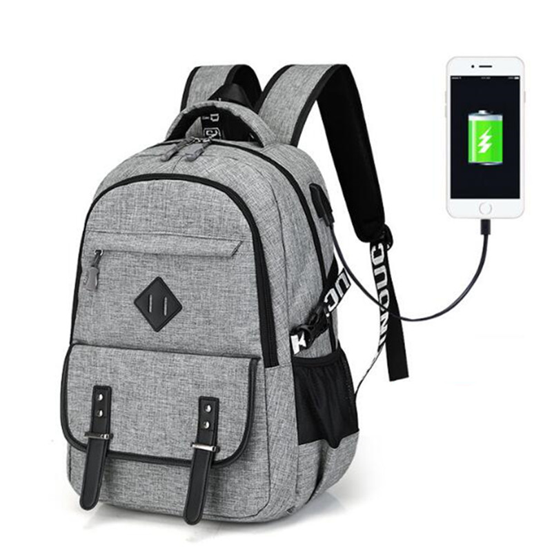 New Brand External USB Charge Backpack Male Mochila Escolar Laptop Backpack men women School Bags Backpack Bag For Male Mochila цена 2017