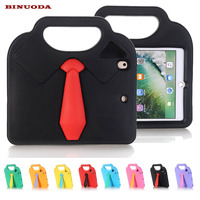 Kids Safe Case For IPad Pro 9 7 3D Necktie EVA Rubber Shock Resistant Handle Carrying