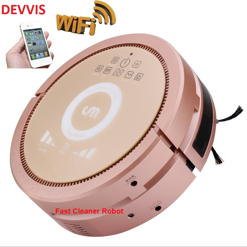 Smartphone WIFI APP Control Air Purifier Cleaning Robot Vacuum Cleaner Wet and Dry Water tank,Working,3350mah lithium battery цена и фото