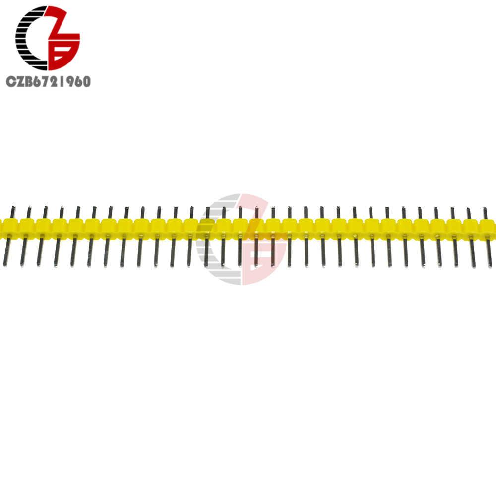 10 Buah Baris Tunggal Pria PIN HEADER 40Pin 2.54 Mm Pin Header Strip Konektor UNTUK ARDUINO Solder Pengelasan