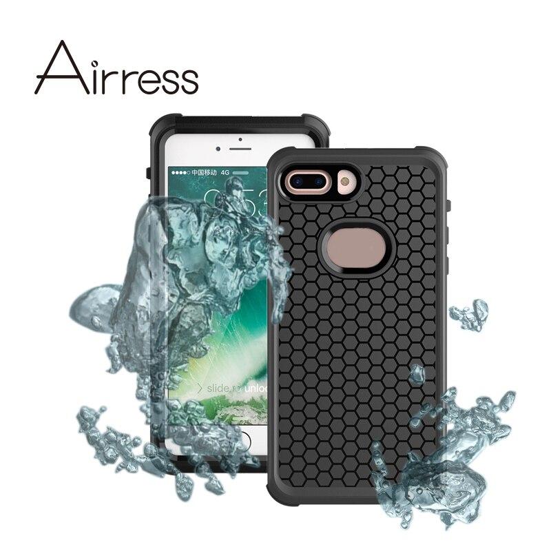 imágenes para Airress Multi-función de Bolsa de la Caja Del Teléfono Ultra-delgado Impermeable A Prueba de Choques A Prueba de Polvo para el iphone 7 Más
