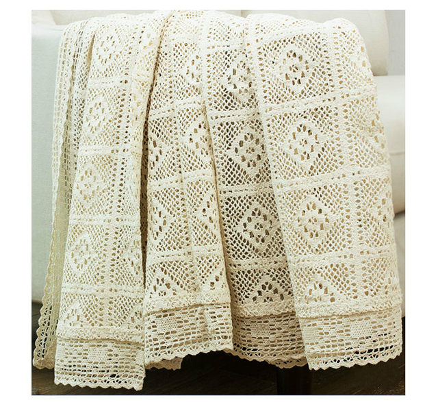 Tienda Online 100% algodón tejido de encaje mantel Shabby Chic ...