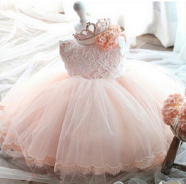 2017 nueva vestidos de fiesta para niñas de flores de la boda traje de la muchacha partido de la princesa niños vestidos para niñas de 1 años cumpleaños dress kids