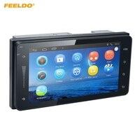 FEELDO 7inch Ultra Slim Android 6.0 Quad Core Car Media Player With GPS Navi Radio For Toyota Universal 2DIN RAV4/Corolla/HILUX