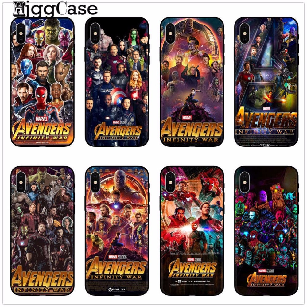 Marvel Avengers Infinity War Thanos Soft TPU Phone Cover Case For iPhone SE 5s 6 6s 6Plus 7 7Plus 8 8 Plus X 10 Shell Phone Bags чехлы марвел