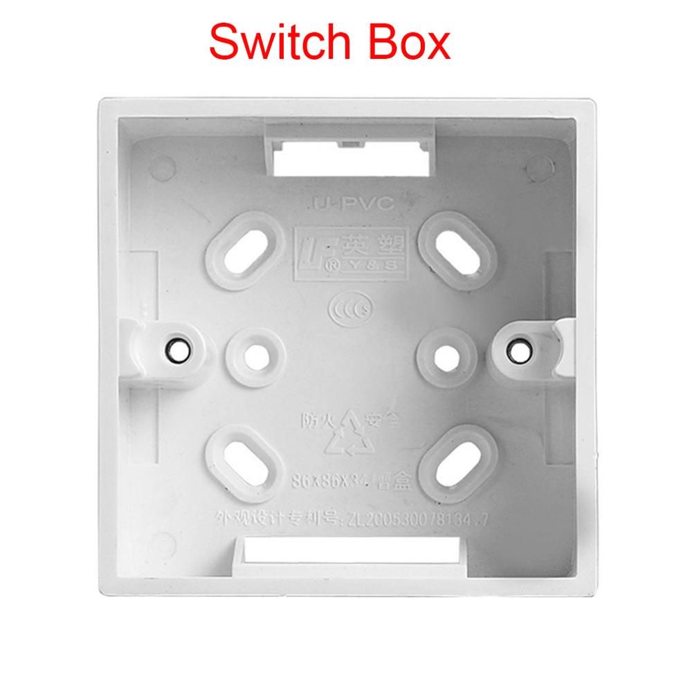 Surface Mounted Switch Box PVC Flame Retardant 86 Single Socket Mounting Box Panel Base Junction Box