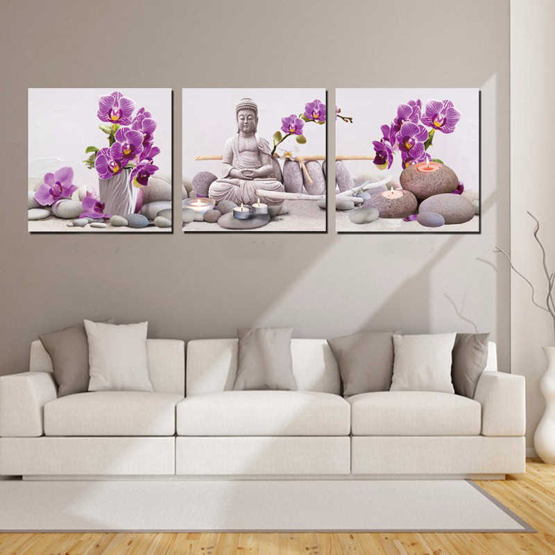 Buddha Painting Wall Art Prints Canvas Painting Modern Wall Pictures for Living Room Paintings Wall Decor Cuadro Decorativo HY58