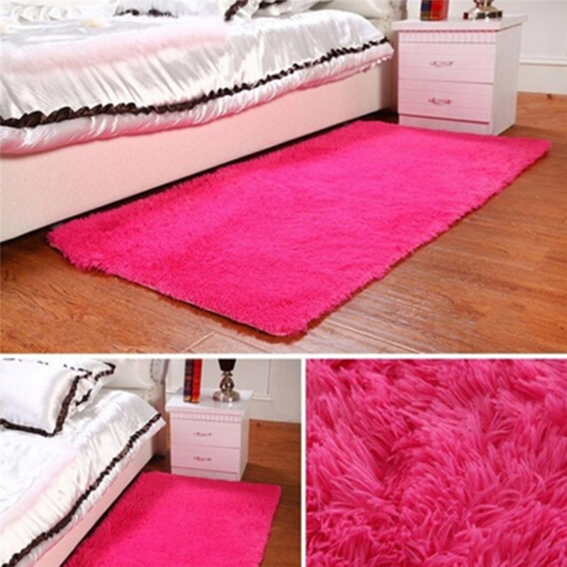 Cotton Carpet Living Room Dining Bedroom Area Rugs Anti: 2018 Fluffy Rugs Anti Skid Shaggy Area Rug Dining Room