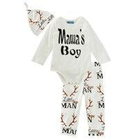 Kids Baby Boy Clothing Set Deer Spring Autumn 2017 Baby Girl Clothing Set Letter Long Sleeve