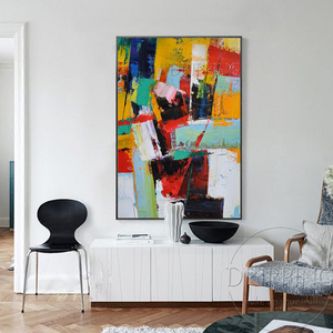 Image 5 - Fashion Wall Art Hand painted Rich Colors Abstract Oil Painting on Canvas Big Brush Knife Abstract Oil Painting for Living Room