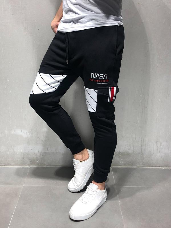 FRMARO 2019 Elasticity Mens Joggers Pants Casual Fashion Bodybuilding Joggers Sweatpants Bottom Printing Pants Men Casual Pants in Skinny Pants from Men 39 s Clothing