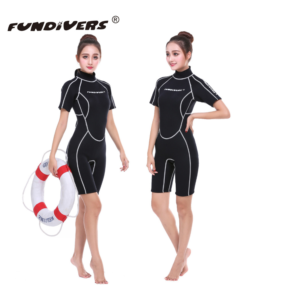 3mm Women's SCR Short Sleeve Wetsuit Diving Wetsuit Keep Warm Snorkeling Swimming Surfing Fishing Jellyfish For Ladies Swimsuit