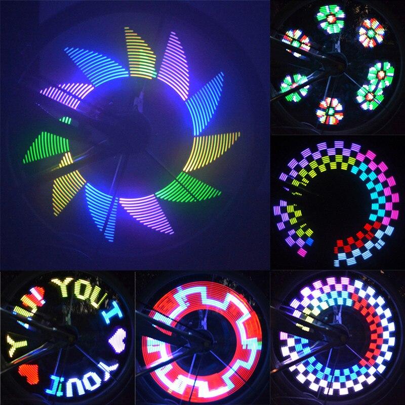 32 шт. LED DIY Велосипедные Фары Красочные колеса велосипеда спицы свет Двигатель лампа Велоспорт шин сигнала привело Luces для ночной езды bicicleta