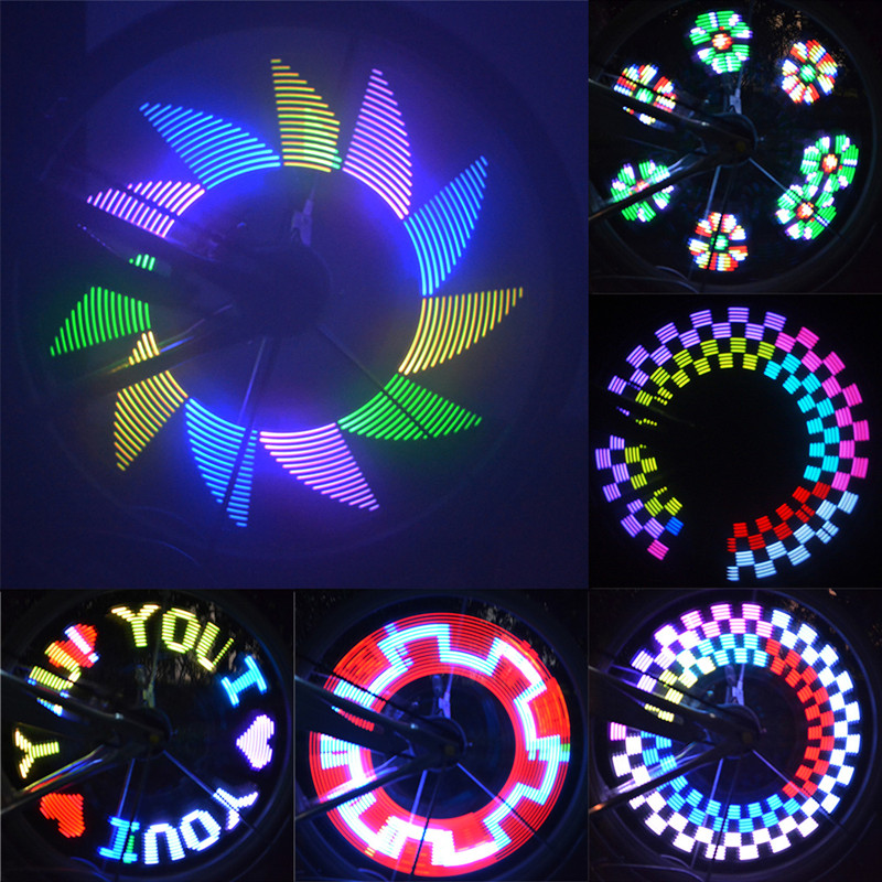 16 Led 42 Mode Spoke Warn Light Waterproof Bicycle Wheel Tyre Light Signal Lamp Reflective Rim Rainbow Tire Fixed 100% Guarantee Bicycle Accessories Cycling