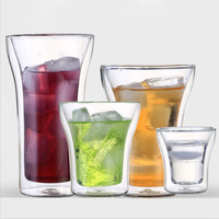 Manual Brief Drinkware Mugs Double Wall Glass For Tea Drinking Egg Cup With Tea Infuser And