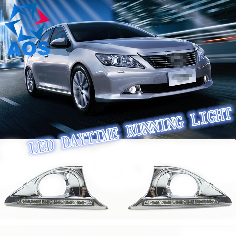 2PCS New Style LED DRL Car daylight Daytime Running Lights for Toyota Camry Aurion 2012 2013 2014 with Turn Signal lamp Function 2 pcs car styling daytime running lights with fog lamp for n issan new t eana or a ltima 2013 2015 turn signal
