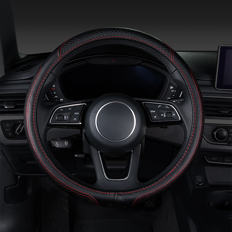 Car steering wheel cover,auto accessories for vw volkswagen beetle caddy cc fusca gol golf 4 5 gti 6 r 7 gti 7 mk7 r